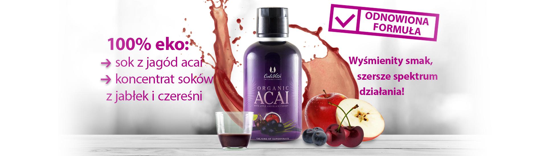 Organic Acai with Apple and Black Cherry - jagody acai - sekret długowieczności 1